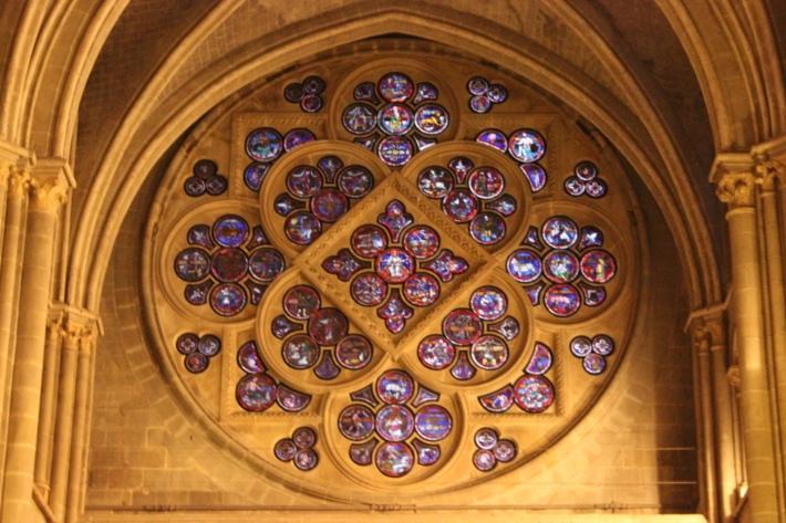 Catedral Lausanne. Rosetón (detalle)